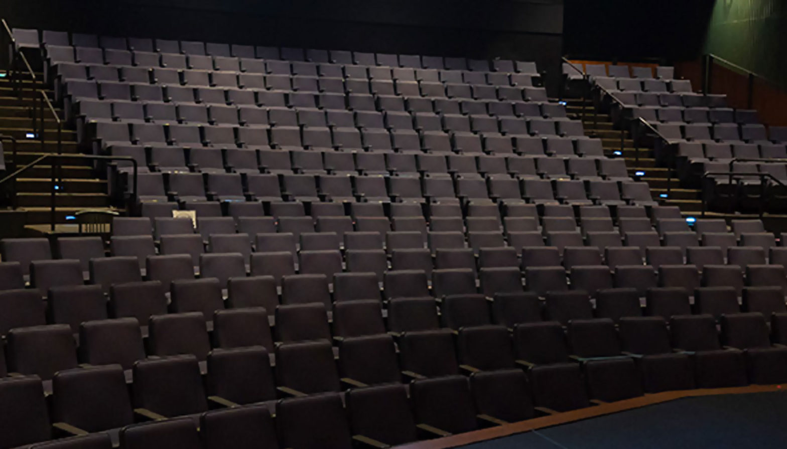 Interior theatre photo of the audience chairs